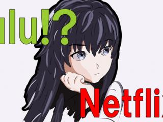 Hulu Netflix アニメ 比較
