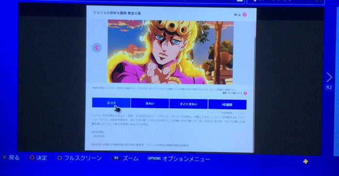 dアニメストア PS4 ブラウザ