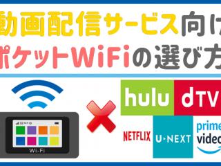 ポケットWiFi 動画配信サービス